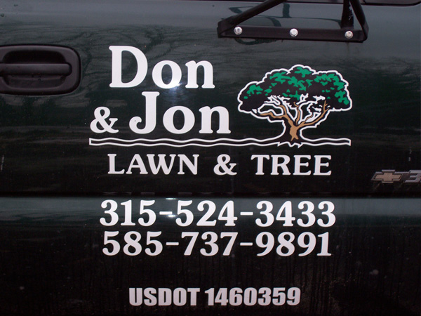 Don and Jon Lawn and Tree Truck